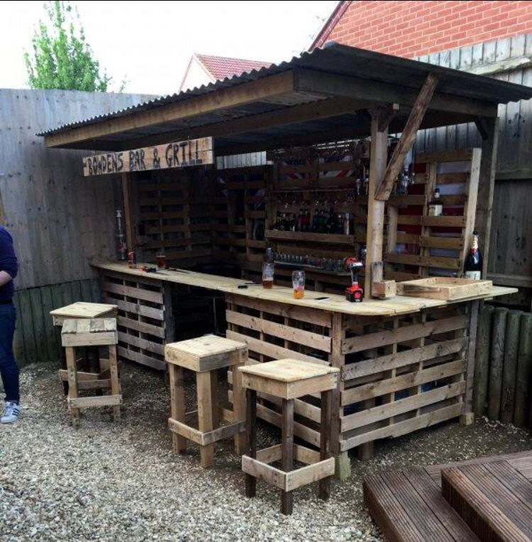 Outdoor Kitchen Bar: Redneck Pallet Bar And Grill Haha I Love It So Much