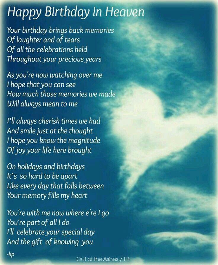 Happy Birthday Birthdays Pinterest Happy Birthday In Heaven