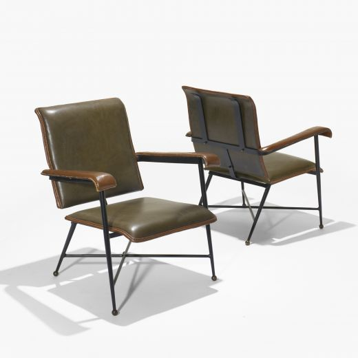 Lounge chairs / Jacques Adnet