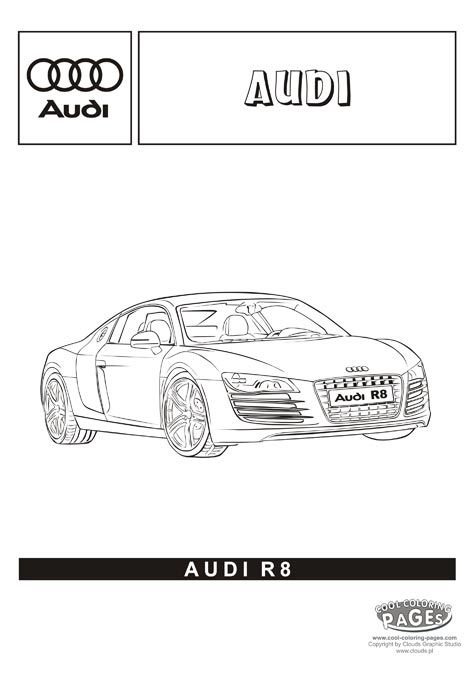 Coloring Pages Real Cars Audi R8 Omalovánky Cars Coloring Pages