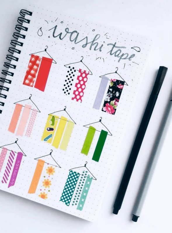 Amazing Washi Tape Collection Ideas For Your Bullet Journal
