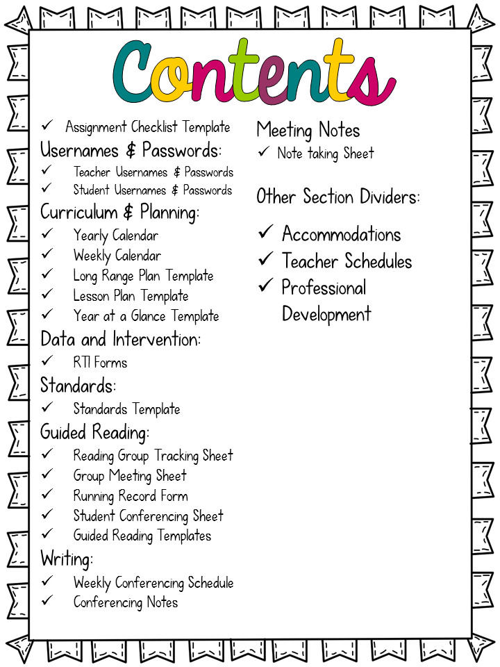 Meeting Note Taking Template Tidbits And Treats For Teachers  Curriculum Maps  Pinterest .