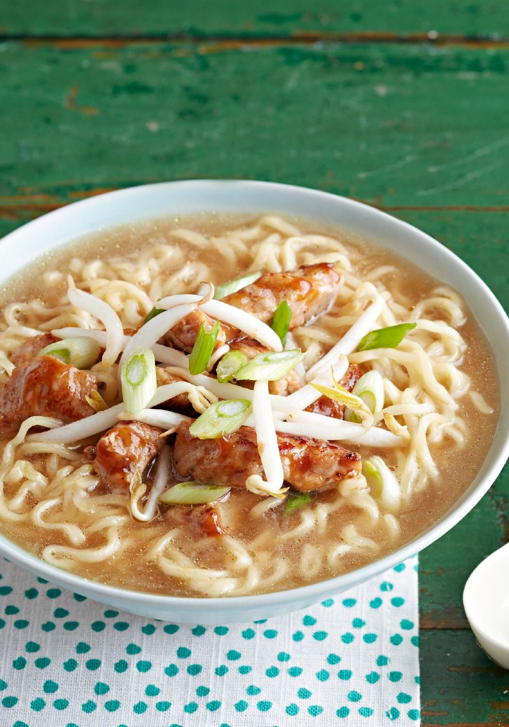 Barbecue Pork Noodle Bowl – A couple of seasoning packets from ramen