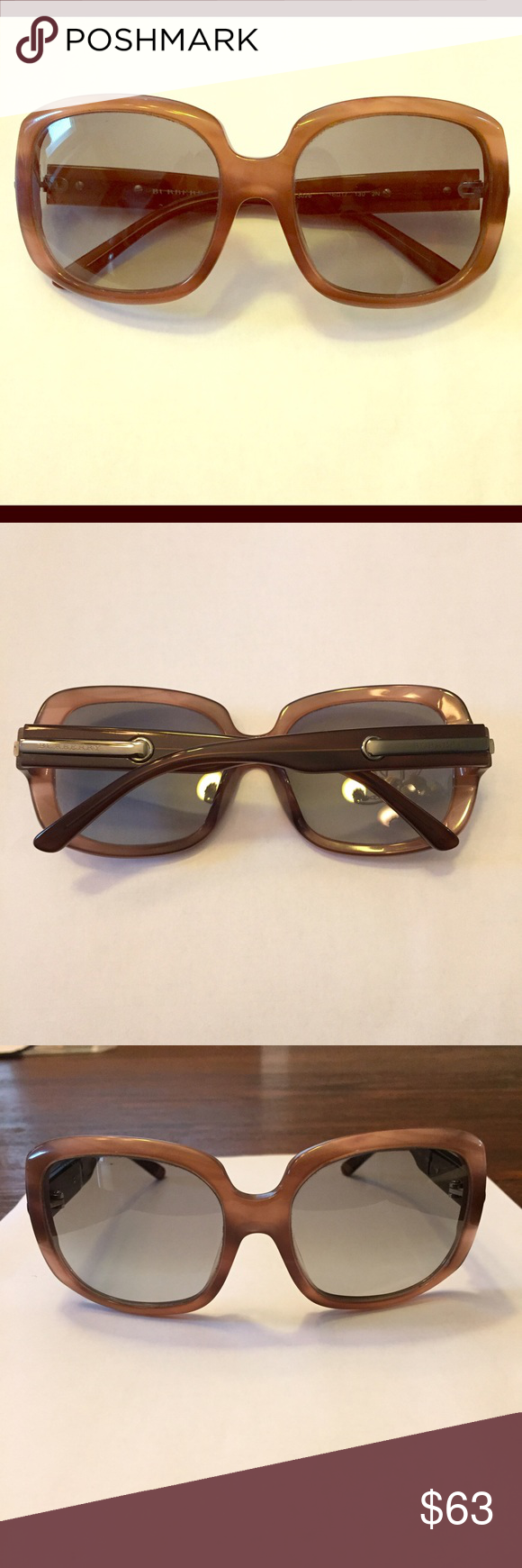 Burberry sunglasses Burberry sunglasses in great condition.  Comes with case.  These have been worn and have minor scuffing on lenses, hardly visible though. Burberry Accessories Sunglasses