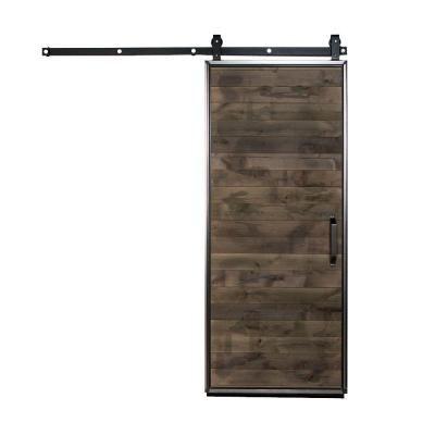 Rustica Hardware 42 in. x 84 in. Mountain Modern Wood Barn Door ...