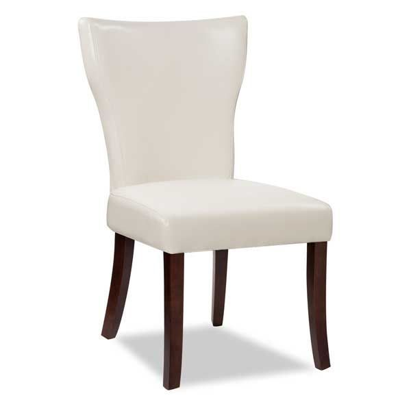 Wing Parsons Chair White Bonded Leather Parsons Chairs Chair