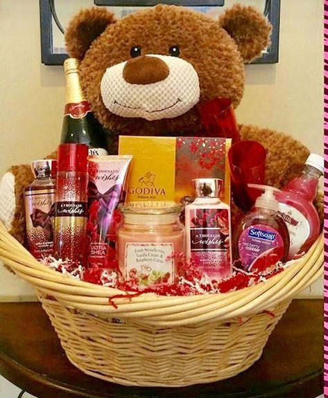 Valentines baskets #giftideas #baskets #alloccasion not just for valentines #birthdaybasket