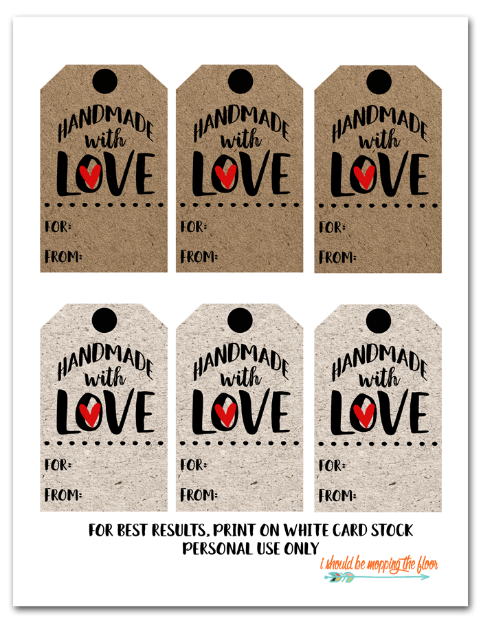 Free Printable Handmade With Love Tags Free Christmas Tags Free Printable Gift Tags Christmas Gift Tags Free