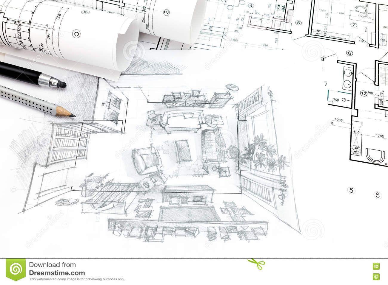 Home renovation concept architect blueprints hand drawn home renovation concept architect blueprints hand drawn architectural malvernweather Choice Image