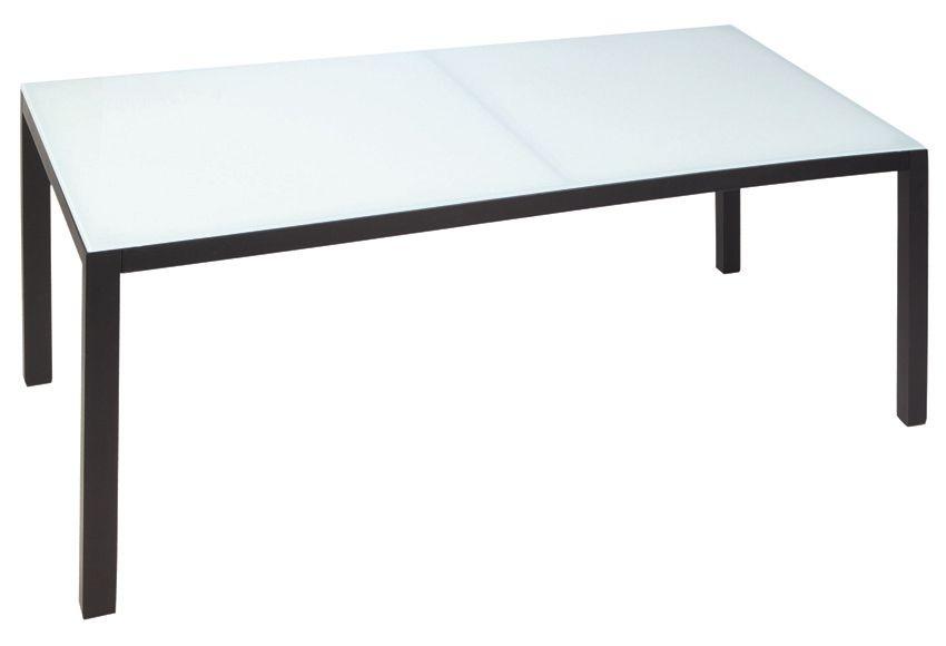 Mesa de aluminio y vidrio TAVIRA Ref. 16564303 - Leroy Merlin