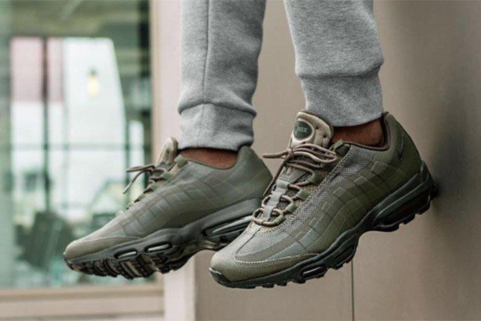 719207db1e9a Nike Air Max 95 Ultra Essential (Cargo Khaki Black) - Sneaker Freaker