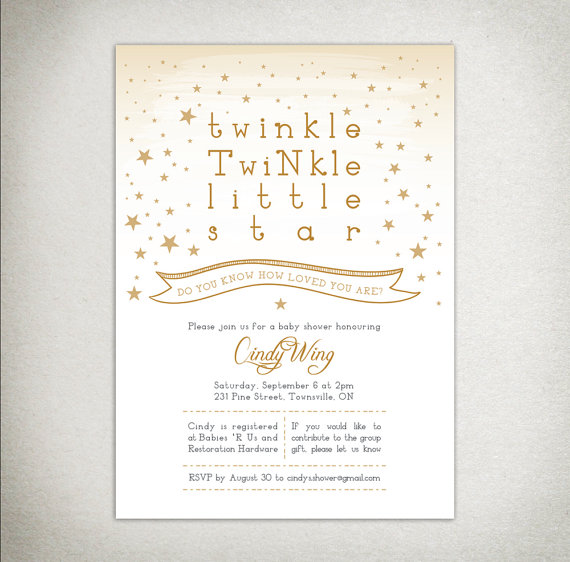photo relating to Free Printable Twinkle Twinkle Little Star Baby Shower Invitations identified as Pin upon twinkle