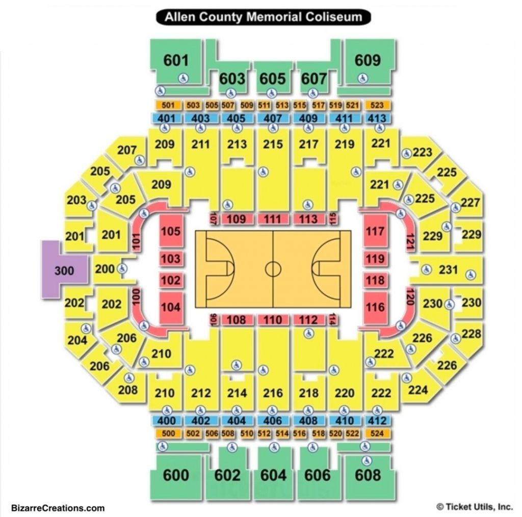 The Most Awesome Allen County War Memorial Coliseum Seating Chart