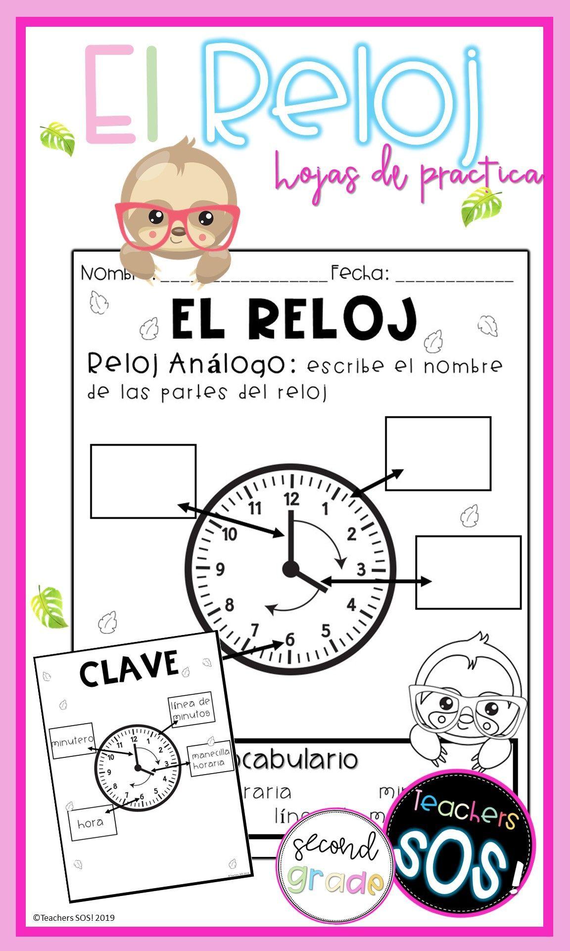 El Reloj Telling Time Spanish In