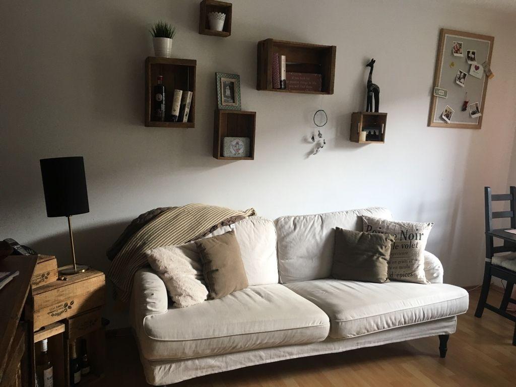 Diy Furs Wohnzimmer Obstkisten Als Wandregale 2 Zimmer Wohnung Haus Deko Einrichtungsideen