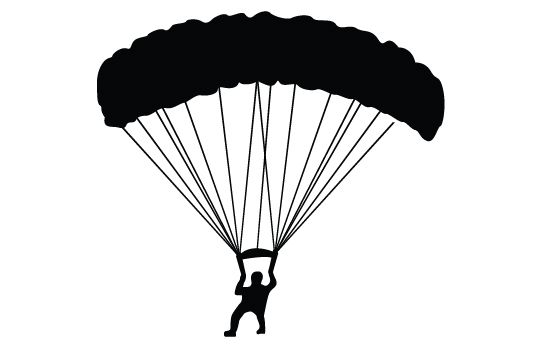 parachute silhouette vector vector free download parachutes and rh pinterest ca parachute vector png parachute vector image