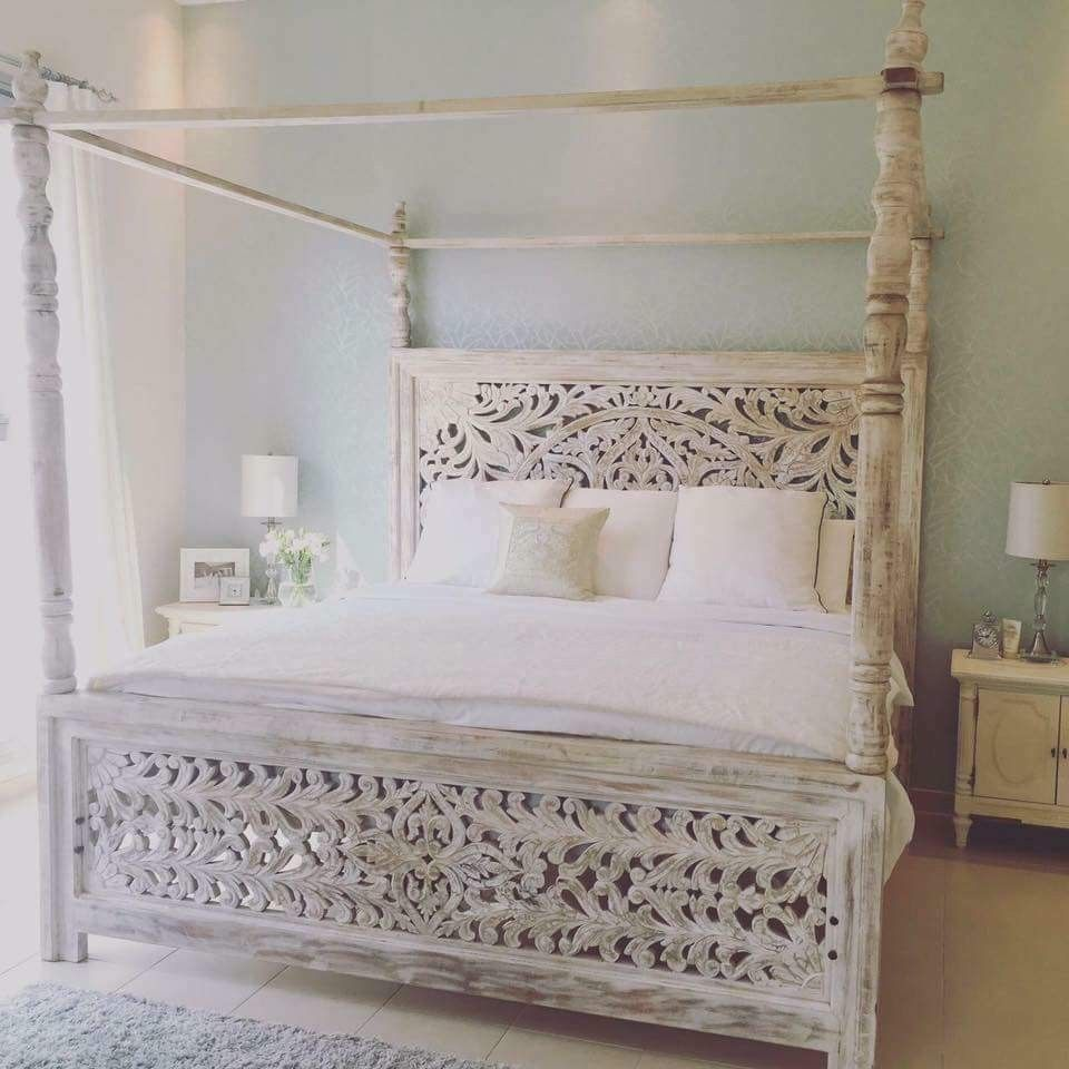 My Dream Bed Post Bed Frame White Wooden Bed Bed Frame