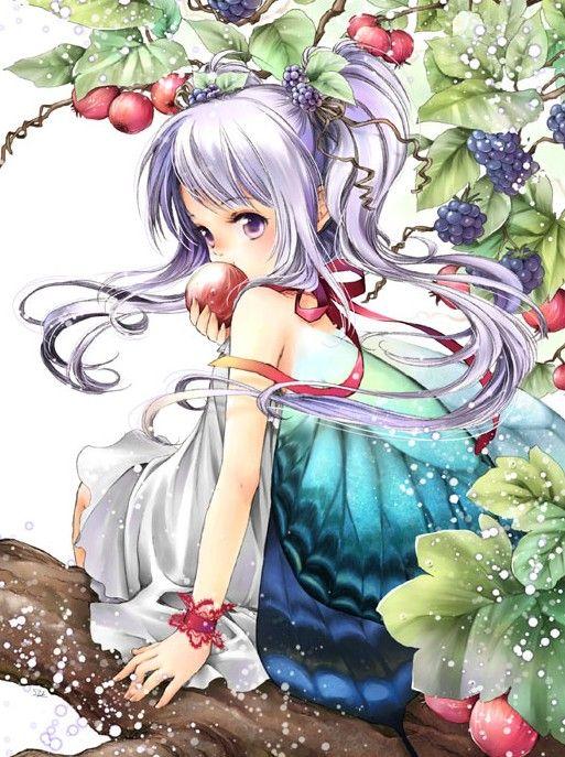 Anime art fairy faerie fae wings berries - Manga princesse ...