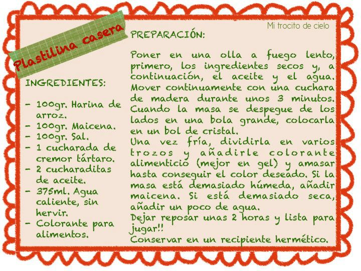 Diapositiva1 1 para lupe pinterest plastilina sin for Ingredientes para cocinar