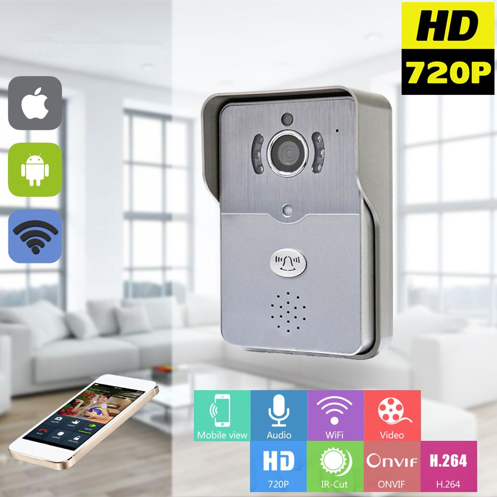 720P IP Wifi Doorbell Camera With Motion Detection Alarm Wireless ...