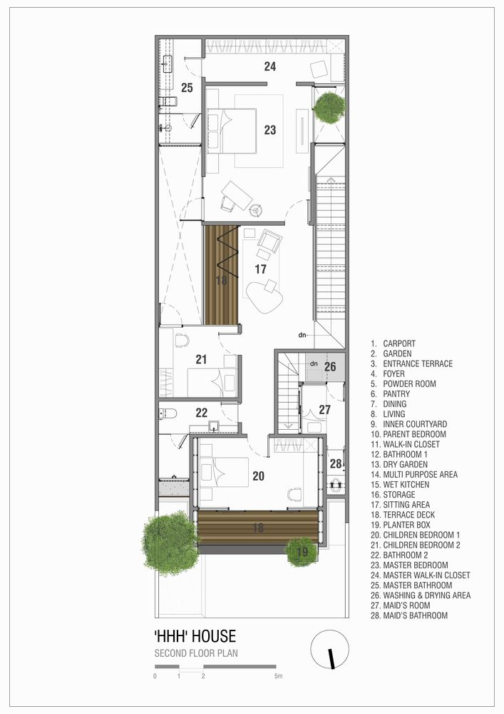 Gallery Of Hhh House Simple Projects Architecture 67 Mediterranean Style House Plans House Floor Plans Duplex House Plans