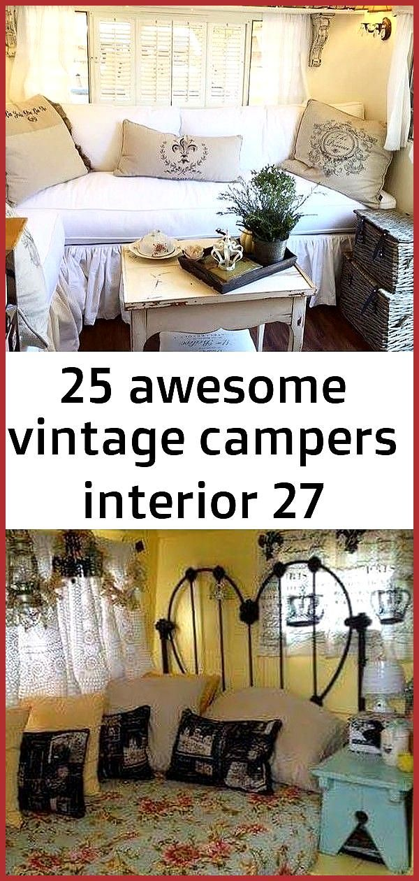 25 awesome vintage campers interior 27 Vintage Camper Interior 26 This van was built for a couple f