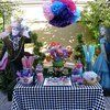 Alice in Wonderland Birthday party Candy Buffet