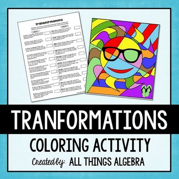Transformations Coloring Activity Color Activities Activities Teaching Geometry