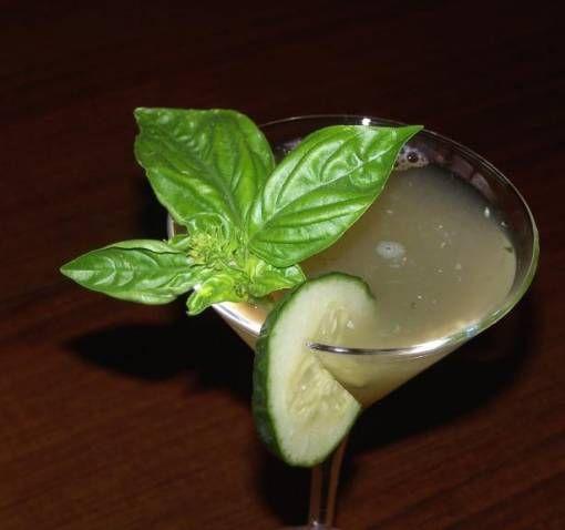 Cucumber Basil Martini @sarasherwin (from The Garden