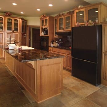 Hickory Cabinets With Granite Countertops Yelp Hickory Cabinets Hickory Kitchen Cabinets Hickory Kitchen