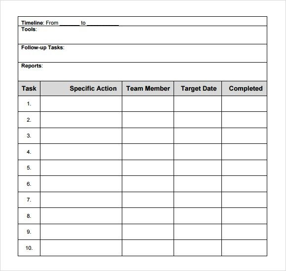 Free Action Plan Template Template Pinterest Action plan