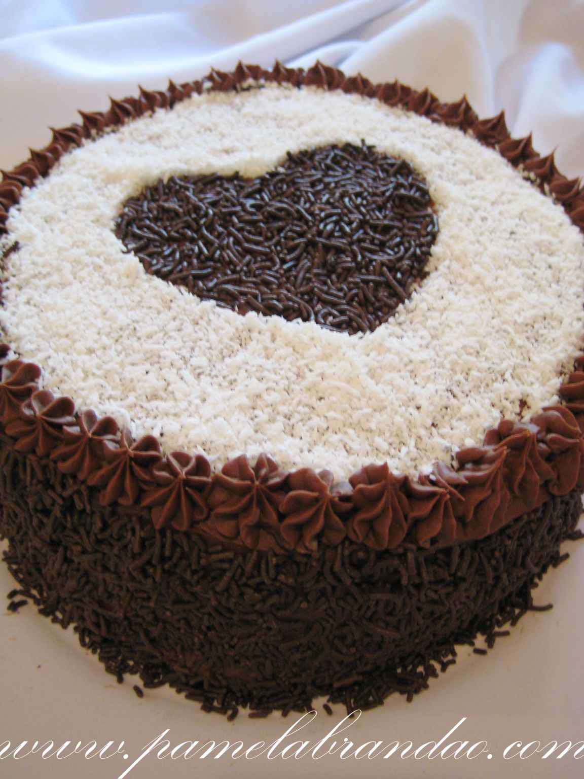 Chocolate Cake With Coconut And Chocolate Filling Bolo De