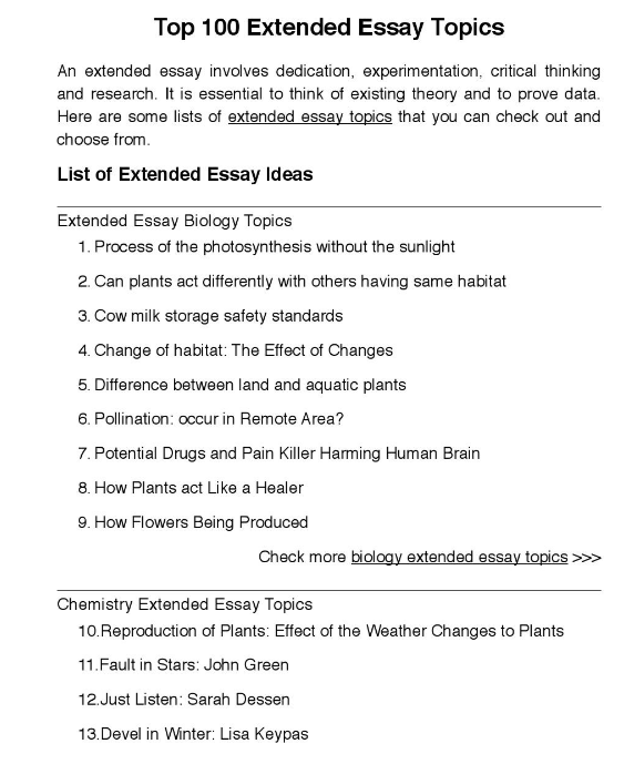 Top 100 Extended Essay Topic Critical Thinking Care Topics Nursing Paper