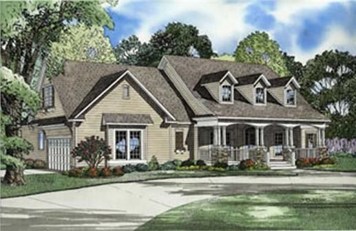 Country Floor Plan 4 Bedrms 3 Baths 2373 Sq Ft 153 1224 Country Style House Plans Country House Plans Traditional House Plans