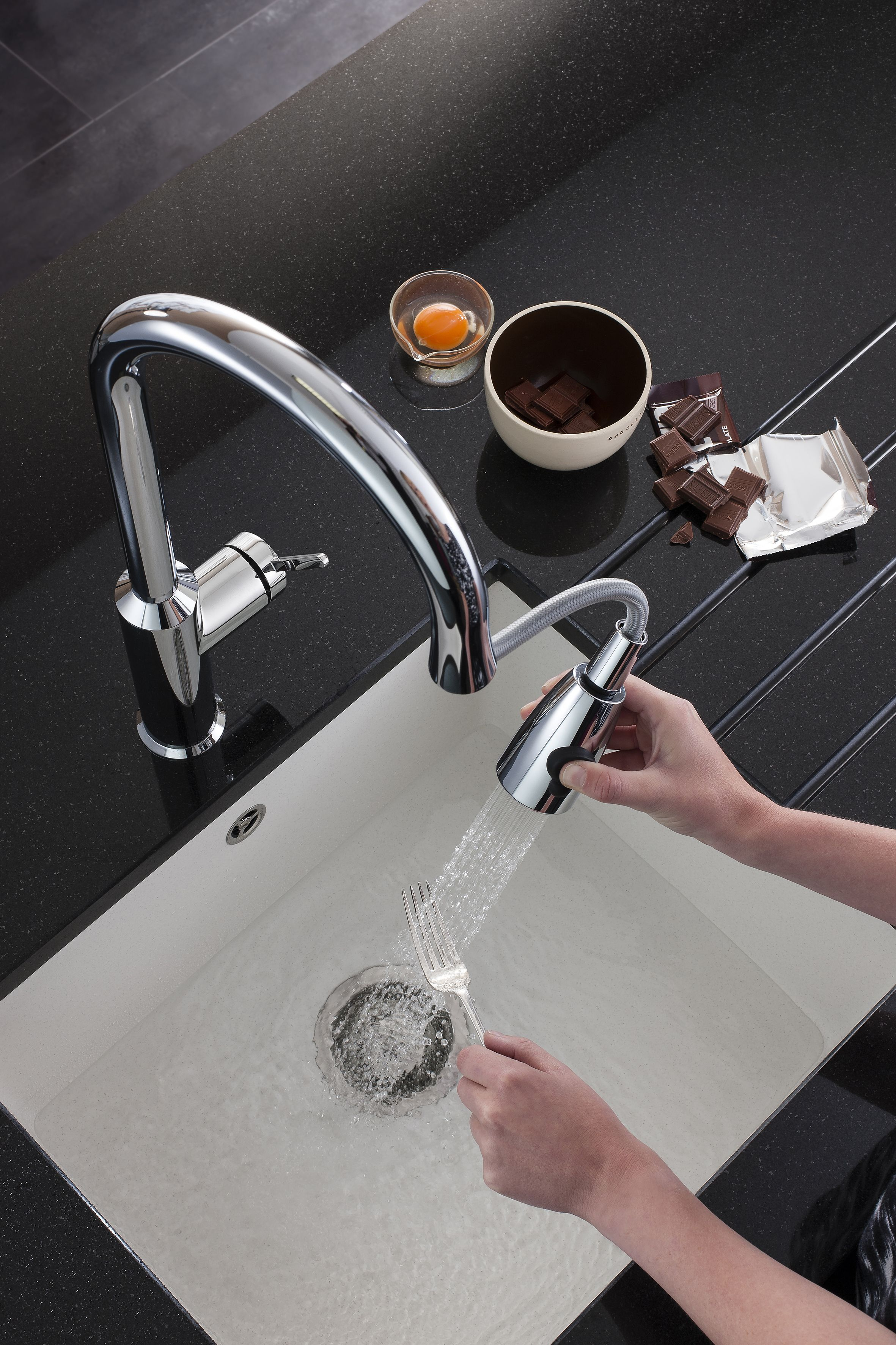 Cucina Cook Side Lever Kitchen Mixer Tap With Pull Out Spray From  Crosswater. Http: