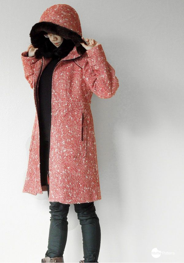 Digital pepernoot hooded coat sewing pattern | Pinterest | Jacken ...