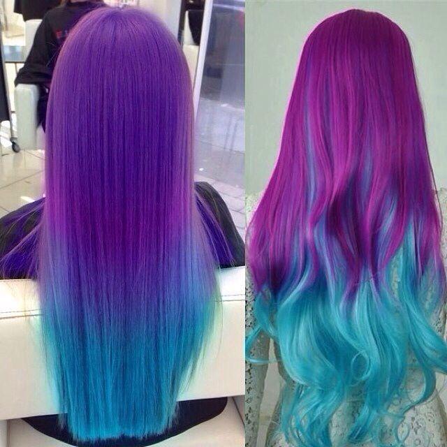Blue Ombre Hair Color Ideas Unicorn