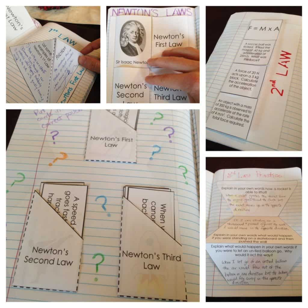 Force And Motion Interactive Notebook Inb Pages