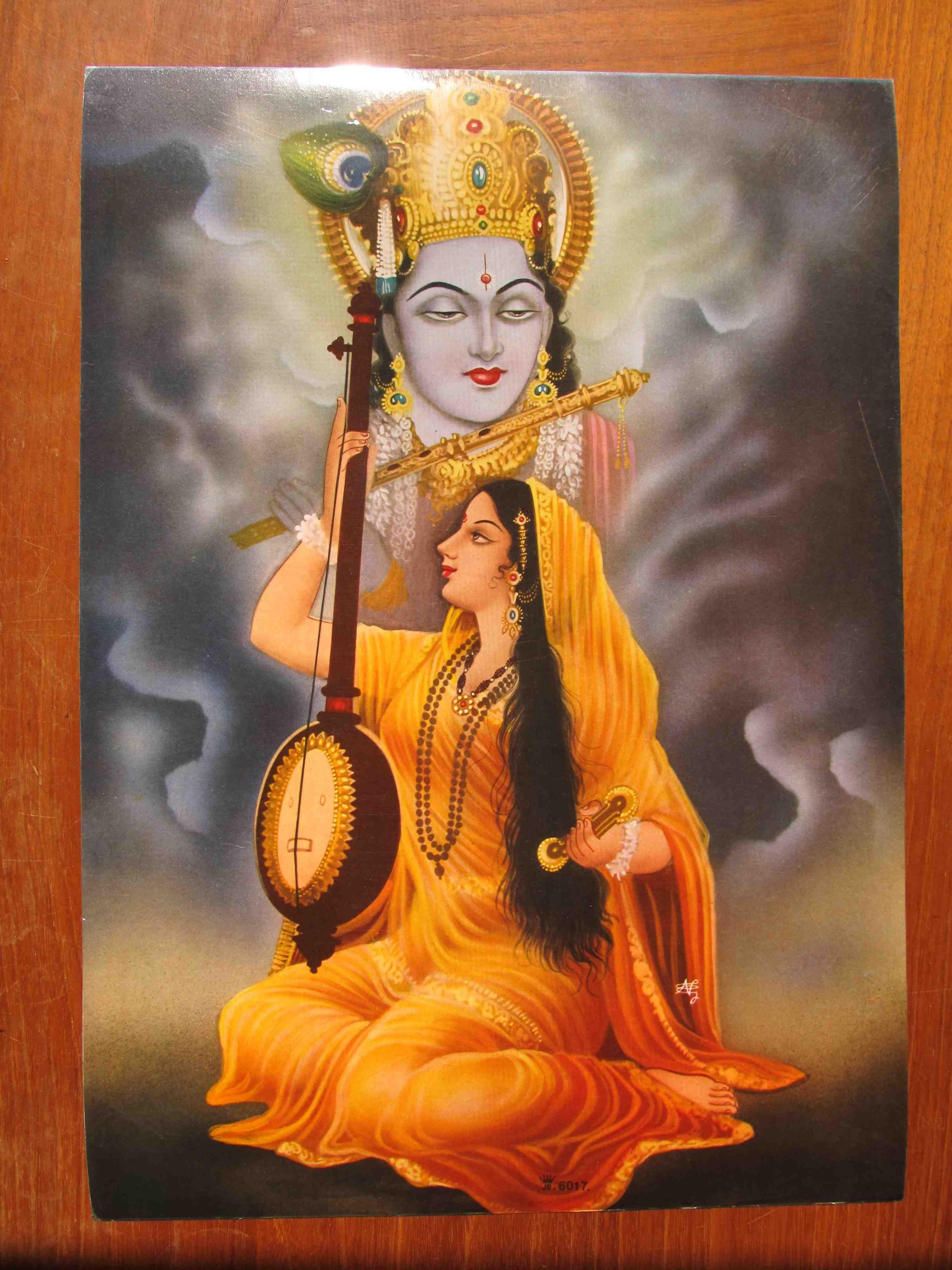 Lord Krishna With Meera Bai Radha Krishna Love India Art