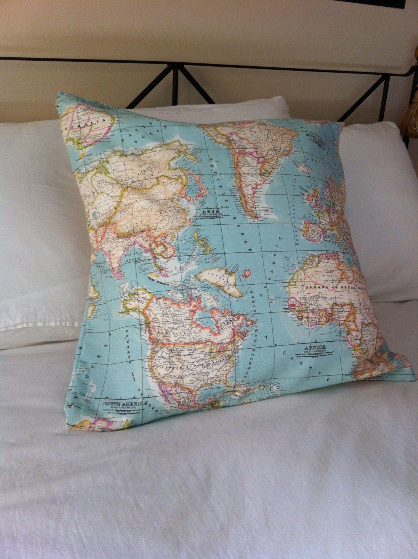 26X26 Pillow Insert Fair World Map Pillowinsert Included  Pillow Inserts And Pillows Design Ideas