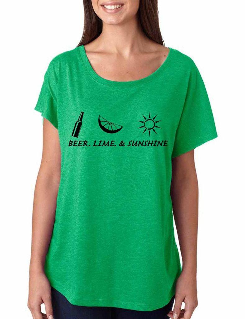 0ec80d7dc81c Beer lime and sunshine women tri-blend dolman shirt summer party sun  summertime sea beach #dolman #beer #womensfashion #fashion #summer