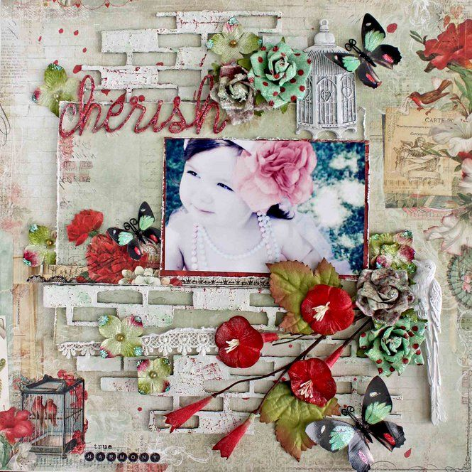 Layout: Blue Fern Studios* Cherish ✿Join 1,500 others and Follow the Scrapbook Pages board. Visit GrannyEnchanted.Com for thousands of digital scrapbook freebies. ✿ Scrapbook Pages Board URL: https://www.pinterest.com/grannyenchanted/scrapbook-pages/