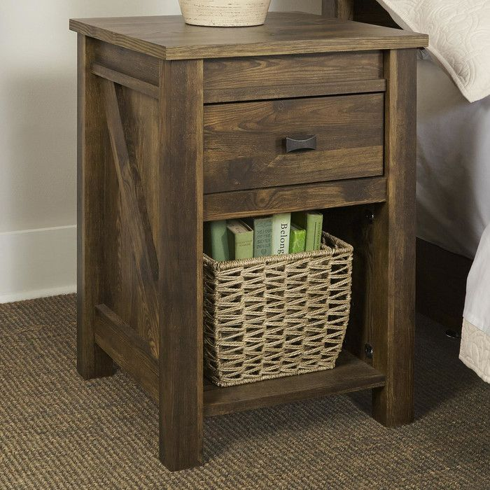 August Grove Gilby 1 Drawer Nightstand Amp Reviews Wayfair