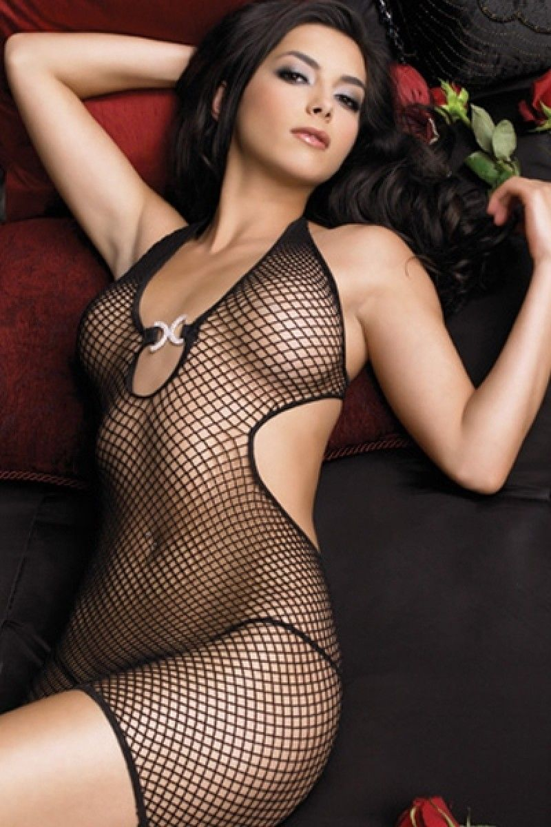 cd117ee6a92 Black Fishnet Sheer Bodystocking - Description  This women sheer  bodystocking is extremely soft