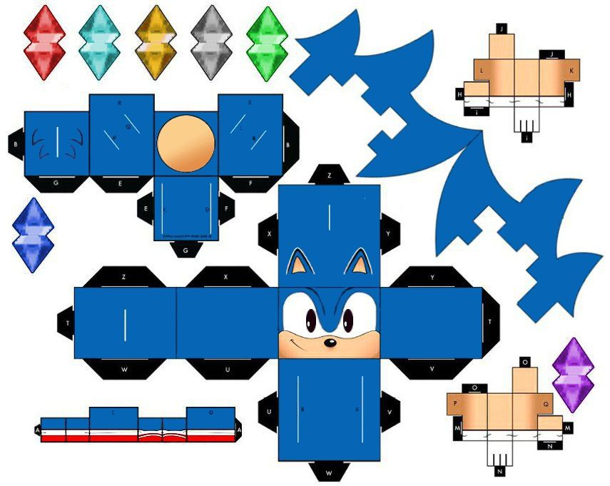 hedgehog pop up paper craft classic sonic the hedgehog by mikeyplater on deviantart 6705