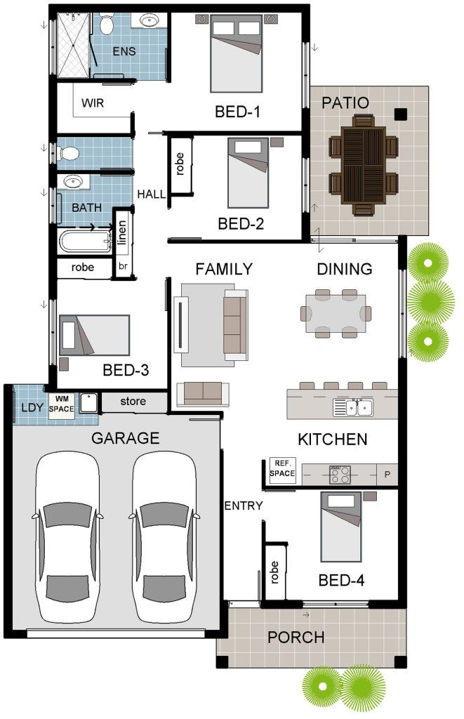 Alpha 6a Coloured Floor Plan Floor Plans Bedroom Floor Plans How To Plan