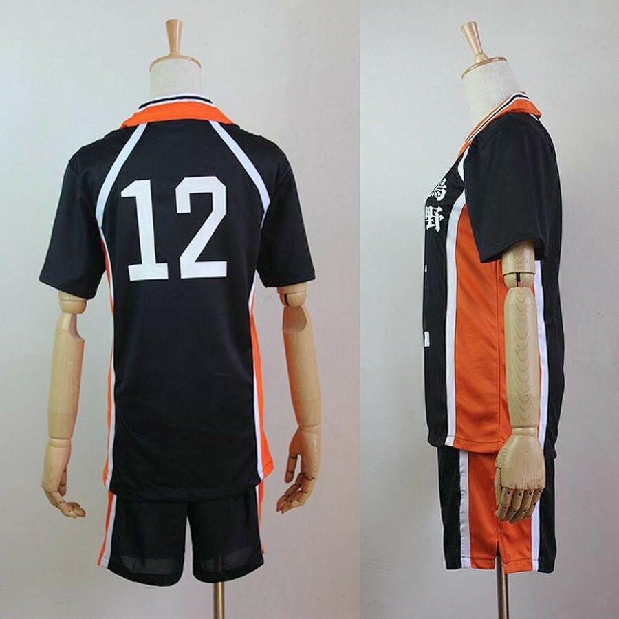 Cosplay High School Uniform M 2xl Haikyuu Karasuno Jersey No 12 Tadashi Yamagu High School Uniform School Uniform Haikyuu Cosplay