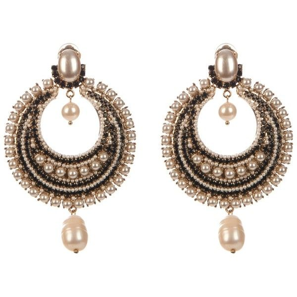 Givenchy Black Pearl Clip On Earrings Found Polyvore Featuring Jewelry Accessories Brinco Gioielli White