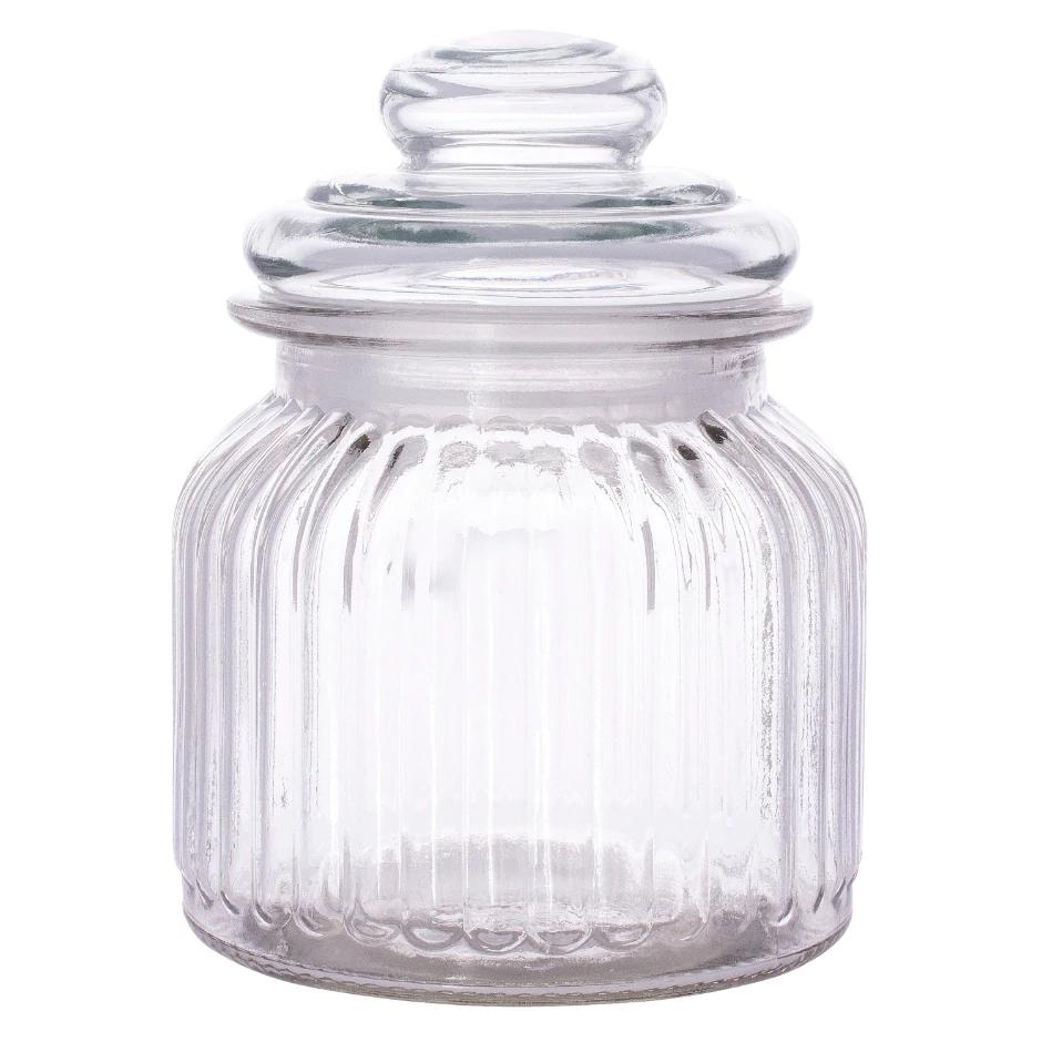 Ribbed Glass Jars With Glass Lids 24 Oz Glass Jars Glass