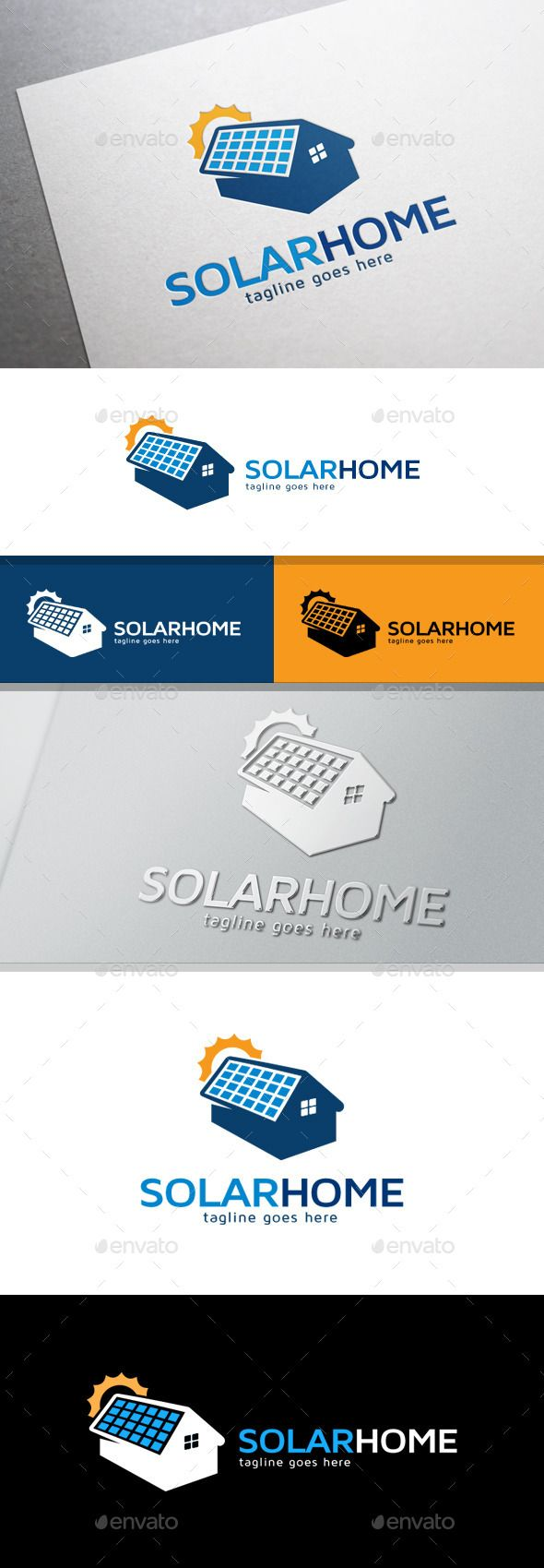 Solar Home Logo Text color Solar and Logos